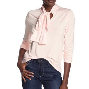 NWT J Crew Long Sleeve Tie Neck Knit Top, Large